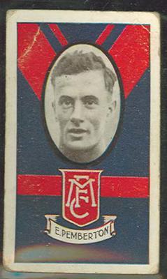 1933 Allen's Australian Football Edwin Pemberton trade card