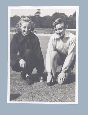 Photograph of Shirley Strickland and Winsome Cripps, 1952
