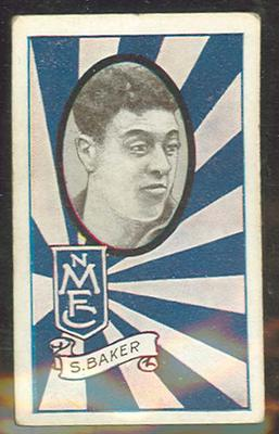 1933 Allen's Australian Football Selwyn Baker trade card; Documents and books; 1987.1871.77