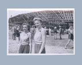 Photograph of Shirley Strickland with Verna Johnston, c1952; Photography; 2003.3903.725