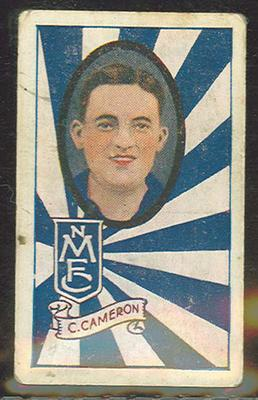 1933 Allen's Australian Football Charles Cameron trade card; Documents and books; 1987.1871.79