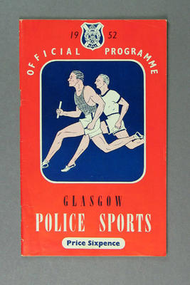 Programme for Glasgow Police Sports, 1952