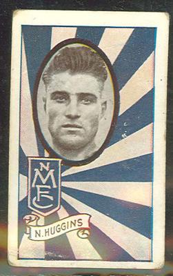 1933 Allen's Australian Football Neville Huggins trade card