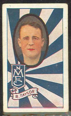 1933 Turf Australian Football Richard Taylor trade card; Documents and books; 1987.1871.82