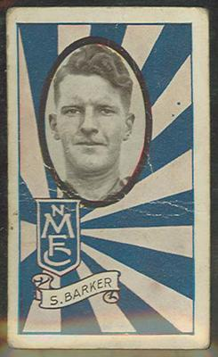 1933 Allen's Australian Football Syd Barker trade card; Documents and books; 1987.1871.84