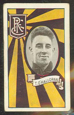 1933 Allen's Australian Football Thomas O'Halloran trade card