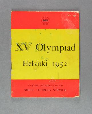 """Booklet, """"XV Olympiad Helsinki 1952"""""""