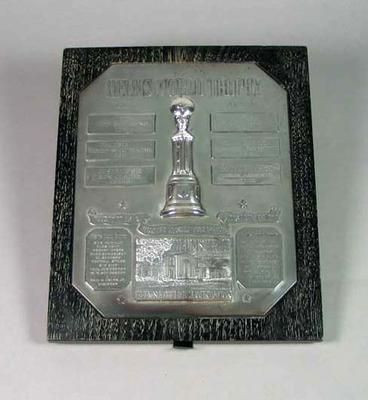 Shield, Helms World Trophy 1965; Civic mementoes; Trophies and awards; 1994.3065.3