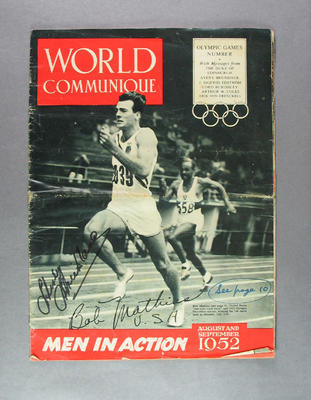 "Magazine, ""World Communique"" August-September 1952"