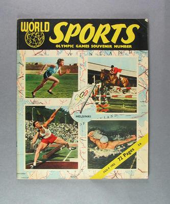 """Magazine, """"World Sports"""" July 1952"""