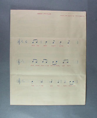 """Song sheet, """"Shirley Strickland"""" by Dick Magree"""