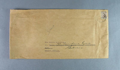 """Envelope for song sheet, """"Shirley Strickland"""" by Dick Magree"""