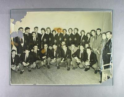 Photograph of Australian team members, 1952 Helsinki Olympic Games