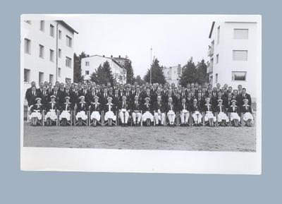 Photograph of the Australian team in uniform, 1952 Helsinki Olympic Games