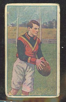 1922 Magpie Australian Football William Schmidt trade card