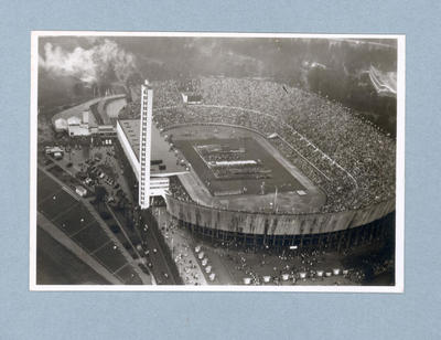 Postcard depicting Opening Ceremony of 1952 Olympic Games, Helsinki