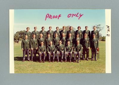 Colour photograph, proof, 1972 Australian International Lacrosse Team