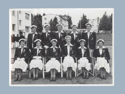 Photograph of Australian female team members, 1952 Helsinki Olympic Games