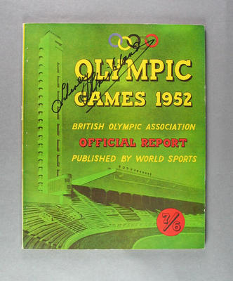 Official report of 1952 Olympic Games, British Olympic Association
