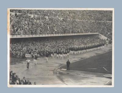 Photograph of 1952 Helsinki Olympics Games Opening Ceremony