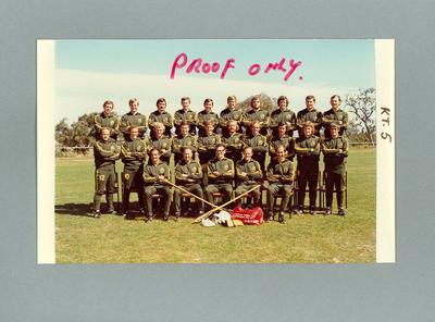 Colour photograph, proof, 1972 Australian International Lacrosse Team