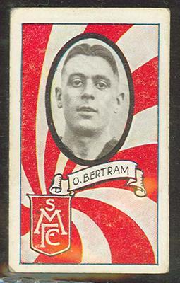 1933 Allen's Australian Football Ossie Bertram trade card; Documents and books; 1987.1871.98