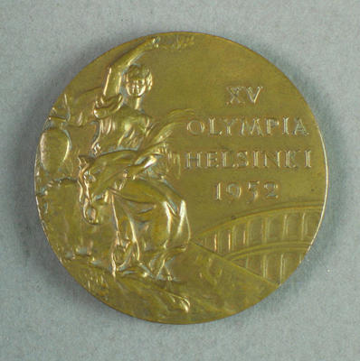 Bronze medal won by Shirley Strickland in 100m event, 1952 Olympic Games