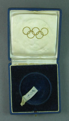 Case for bronze medal won by Shirley Strickland in 100m event, 1948 Olympic Games