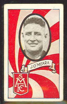 1933 Allen's Australian Football James O'Meara trade card