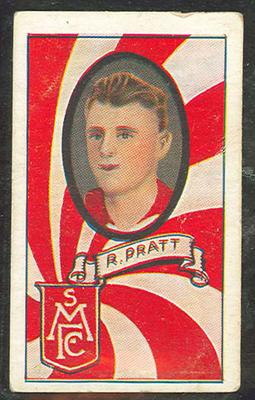 1933 Turf Australian Football Bob Pratt trade card; Documents and books; 1987.1871.103