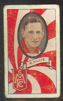 1933 Allen's Australian Football Ron Hillis trade card; Documents and books; 1987.1871.104