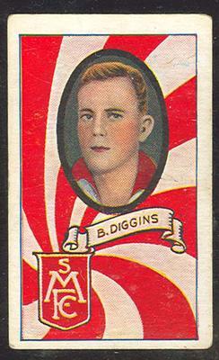 1933 Turf Australian Football Brighton Diggins trade card