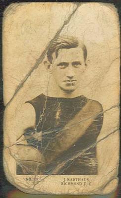 1923 Magpie Australian Football James Karthaus trade card