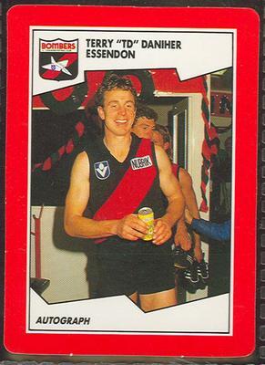 1989 Stimorol The Sportsman's Gum [Scanlens Sweets Pty. Ltd.] V.F.L. - Terry 'TD' Daniher Trade Card No. 62