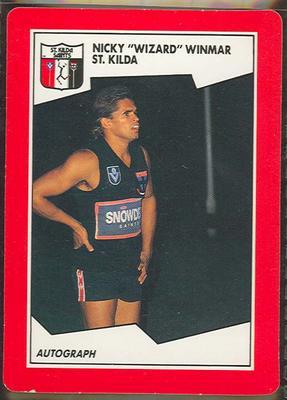 1989 Stimorol The Sportsman's Gum [Scanlens Sweets Pty. Ltd.] V.F.L. -Nicky 'Wizard' Winmar Trade Card No. 153