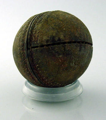 Used cricket ball, details unknown