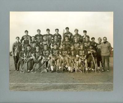 Black and white photograph, Boston Lancers Lacrosse Team, Australia June 1970