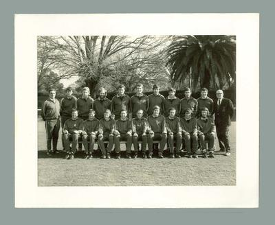 Black and white photograph of the Victorian State Lacrosse Team, 1971