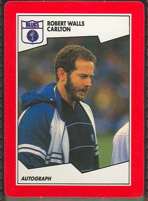 1989 Stimorol The Sportsman's Gum [Scanlens Sweets Pty. Ltd.] V.F.L. -  Robert Walls Trade Card No. 34