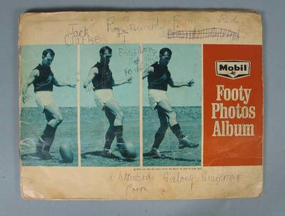 Mobil Footy Photos Album, 1965; Documents and books; 1989.2181.1