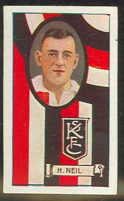 1933 Carreras (Turf) Personality Series Footballers Harold Neill trade card
