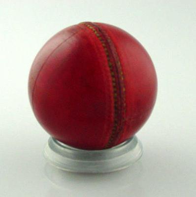 Unused cricket ball c. 1940s; Sporting equipment; M10548.3
