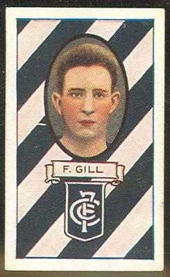 1933 Carreras (Turf) Personality Series Footballers Frank Gill trade card; Documents and books; 1990.2294.11