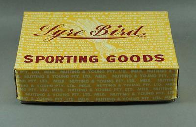 Lyre Bird Sporting Goods box, lid & dividers; Sporting equipment; M10548.10