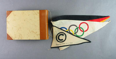 Album containing photos of Shirley Strickland at Olympic Games and Berlin Games, 1952; Photography; 2003.3903.852