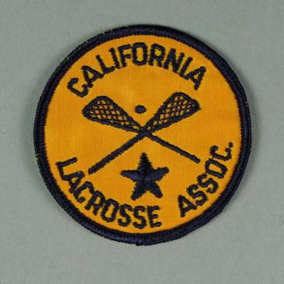 Cloth badge - California Lacrosse Association