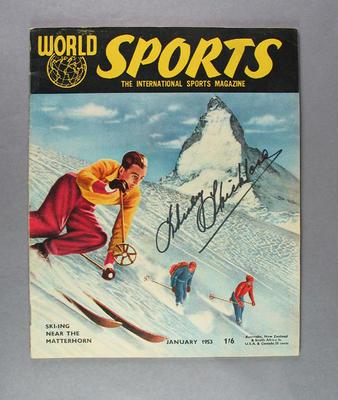 "Magazine, ""World Sports"" January 1953"