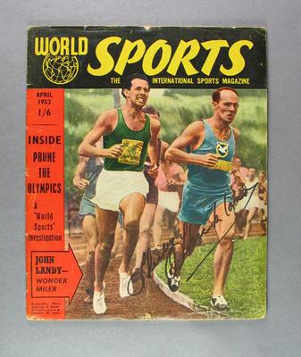 "Magazine, ""World Sports"" April 1953"