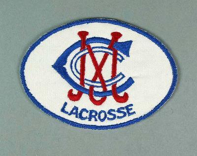 Cloth badge - Melbourne Cricket Club Lacrosse section