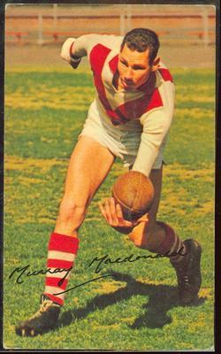 1965 Mobil Footy Photos Murray MacDonald trade card